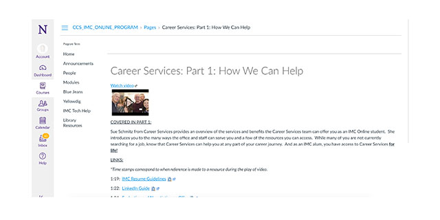 Career website screenshot