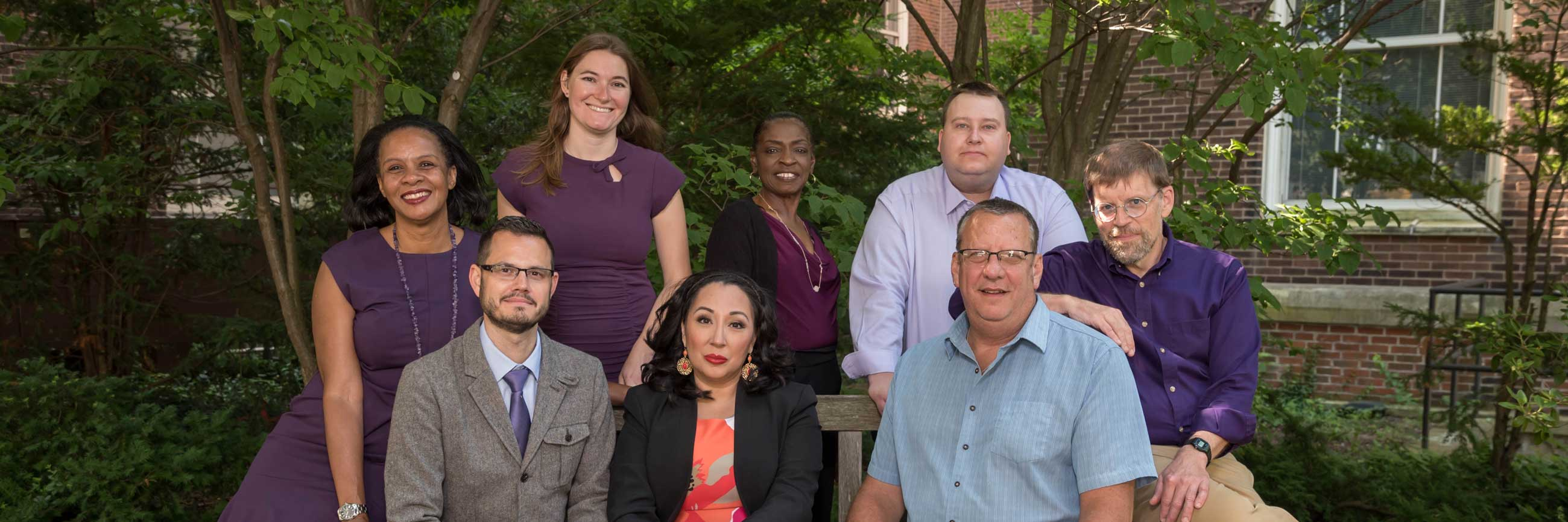 A group photo of the Medill graduate admissions team