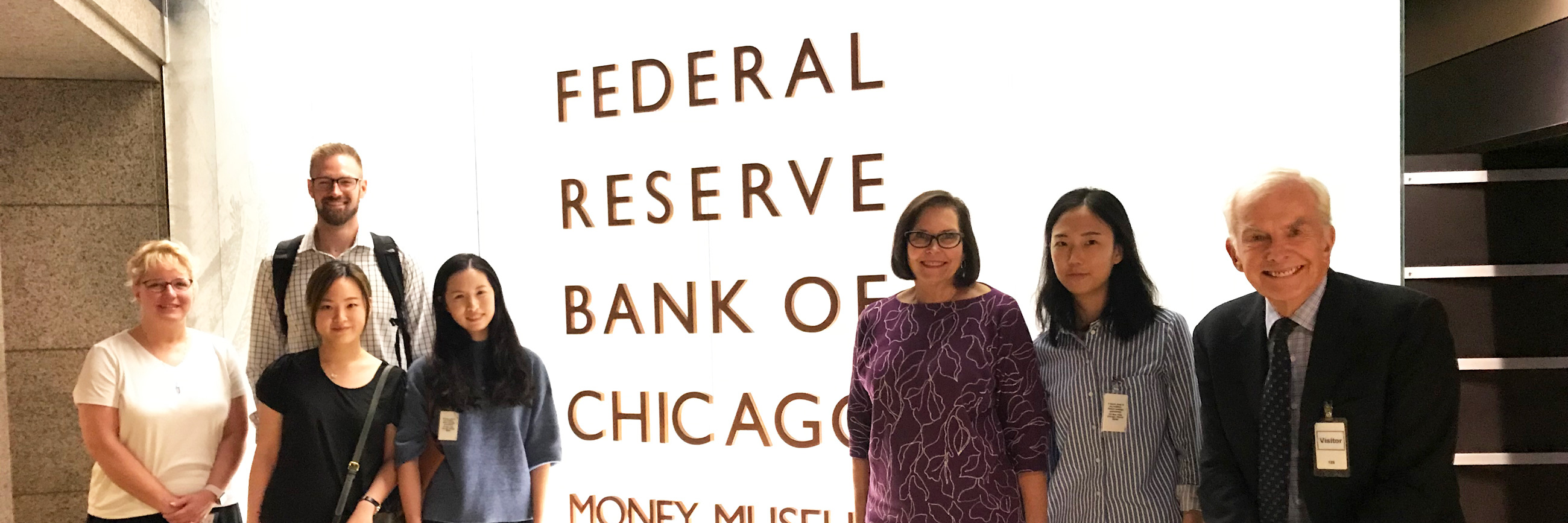 Group of students at the Federal Reserve Bank of Chicago