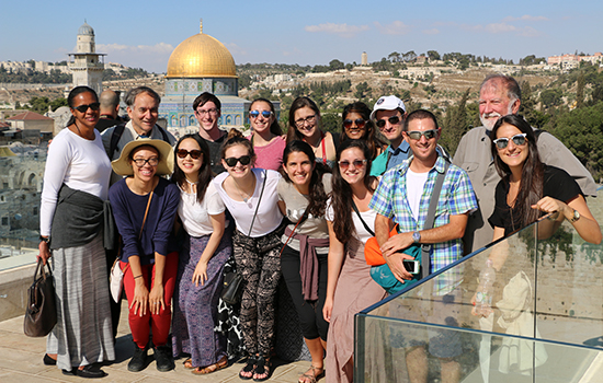 Group photo of students in Israel