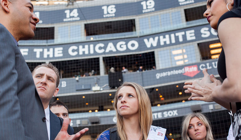 Students at the Chicago White Sox stadium