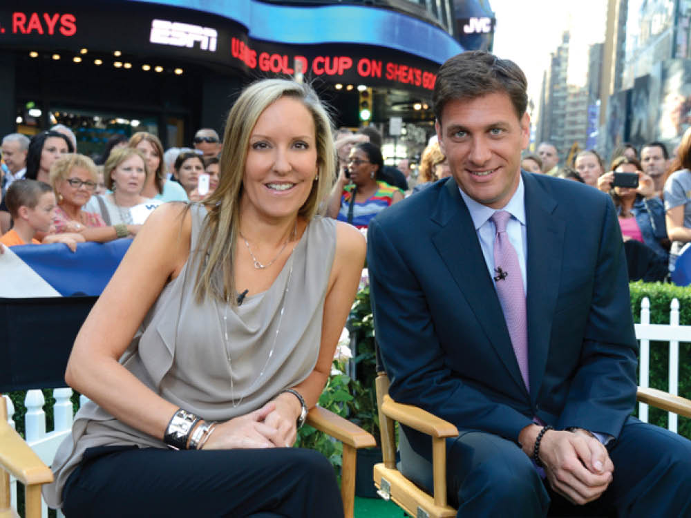 Medill alumni Mike Greenberg and Stacy Steponate Greenberg