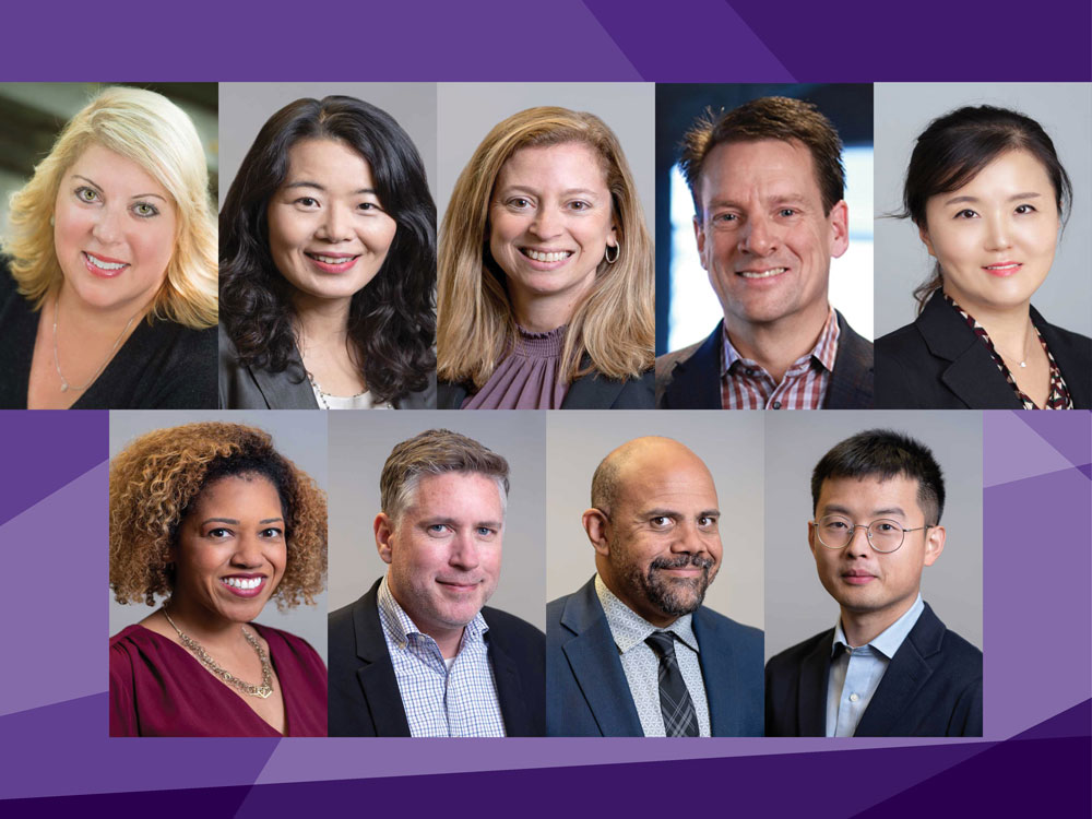 Headshots of new Medill faculty members