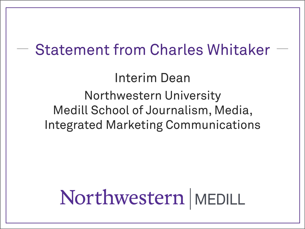 "Cover image that says ""Medill Statement"""