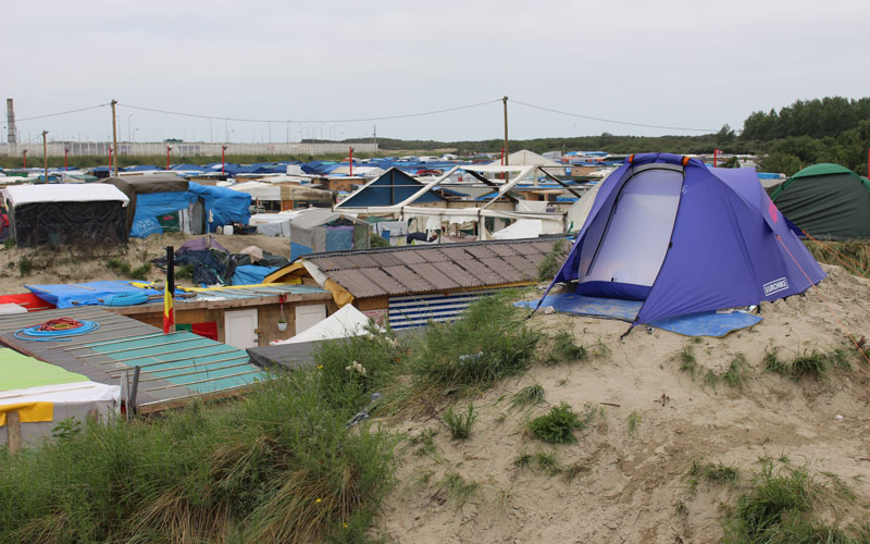 BSJ Paris - Calais Hill in the jungle refugee camp