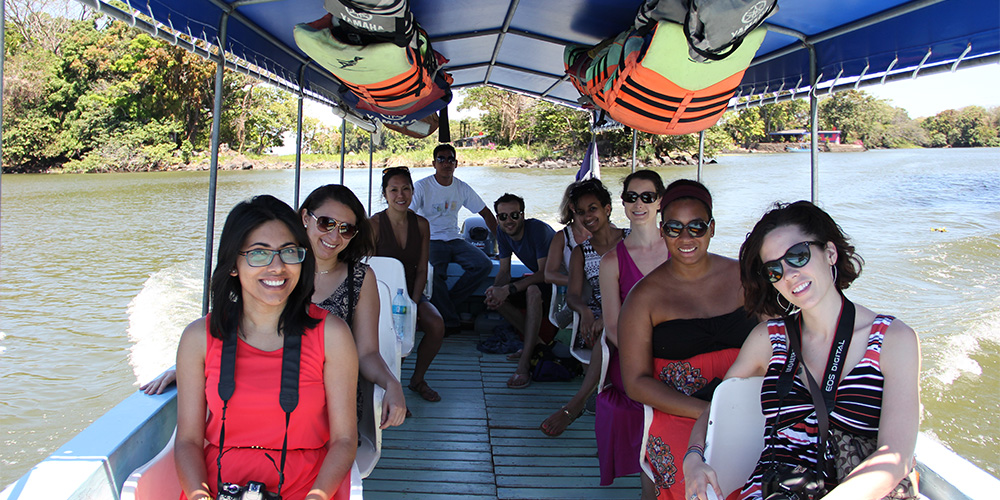 MSJ Students on a boat tour in Nicaragua.