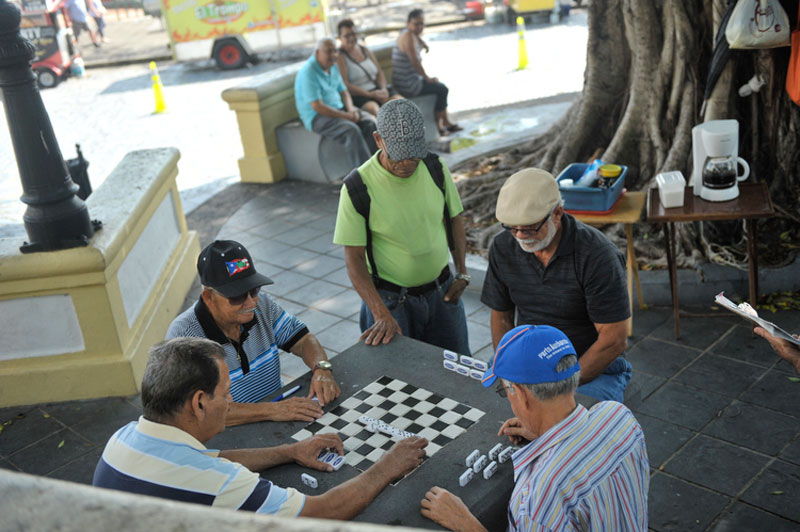 Puerto Rican's playing checkers in the streets
