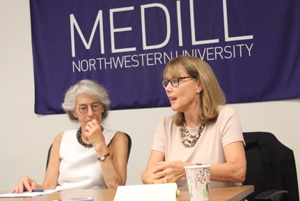 Presenters speak at Medill's health care reporting conference