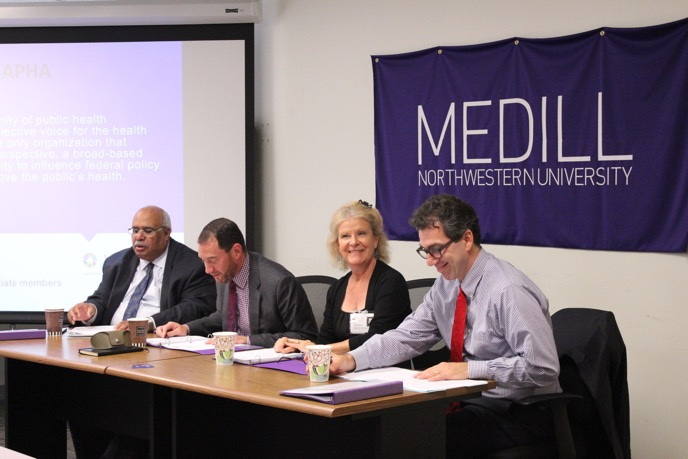 Panelists speak at Medill's Health Care Reporting Conference