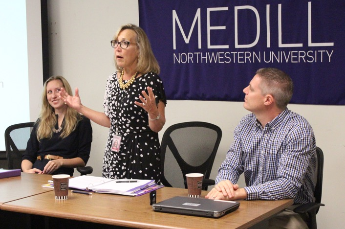 Panelists speak at Medill's Health Care Reporting Confernece