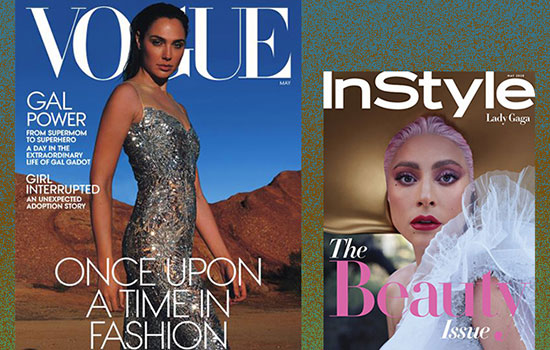 collage of magazine covers from Vogue and InStyle